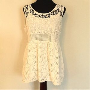 Adiva Crocheted and Lace Top